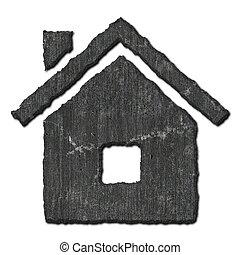 Stone home symbol.