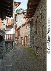 stone homes in La Thuille