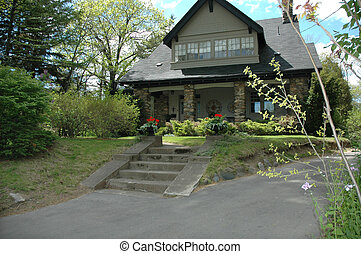 Stone House with porch