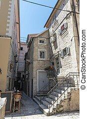 Stone houses in old Split in Croatia