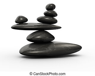 Stone in balance - Structure of stones arranged in balance -...