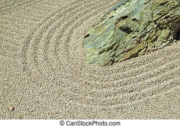 Stone in japanese zen garden