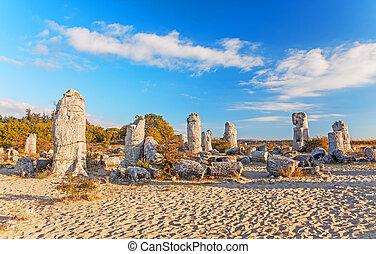 (stone, kamani, bulgaria., geológico, pobiti, original, ...