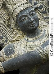 Krishna Shiva statue - Stone Krishna Shiva statue. Object of...