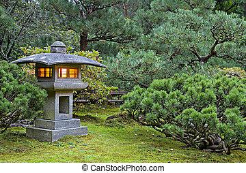 Stone Lantern at Japanese Garden
