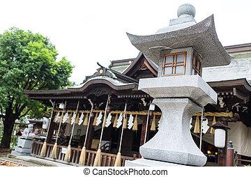 Stone lantern in japanese temple