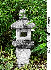 stone Lantern on japanese garden