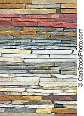 Stone layers - Wall made from natural stones in layers