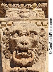 Stone lion, decorative element