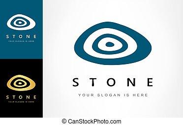 stone logo vector