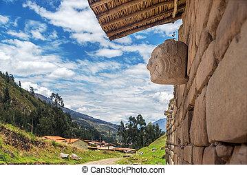 Stone Mask at Chavin de Huantar