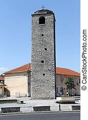Stone minaret