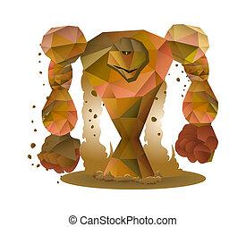 stone monster illustration - illustration of a stone monster...
