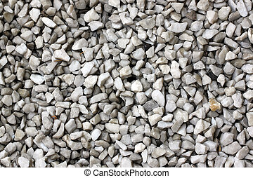 stone of gravel on the walkway in garden.