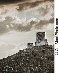 Stone old tower house on Mani, Greece. - Greece Mani ...
