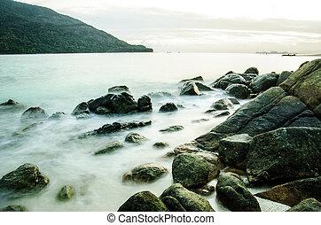 stone on island in thailand