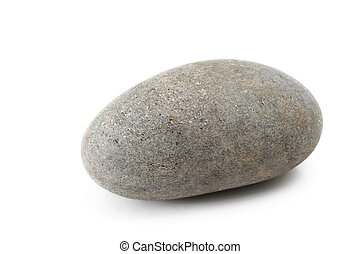 Stone on white background