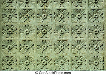 Stone ornament on the wall