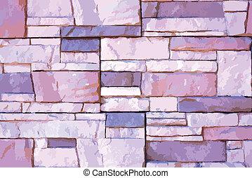 stone pařez, val, vektor, ilustrace