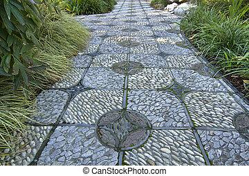 Stone Path in Chinese Garden