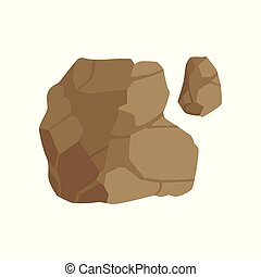 Stone path, landscape design element, pathway cover, top view vector Illustration on a white background