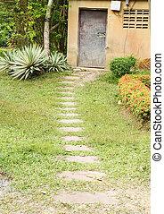 pathway to the door
