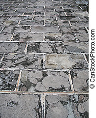 stone paved road background