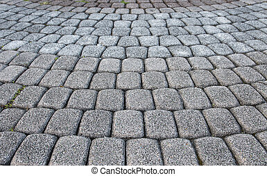 stone paved road