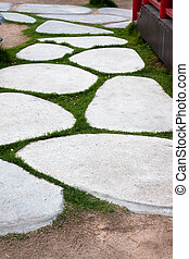 stone paved roads