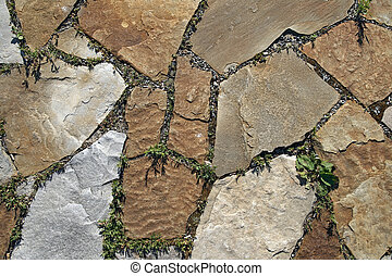 Texture of paving - stone tile pattern.