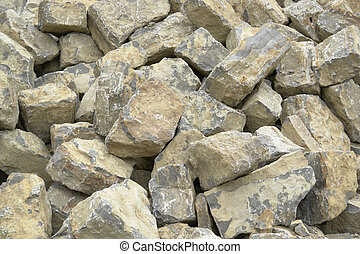 stone pile detail