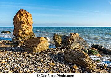 Stone pillar on the Black Sea coast