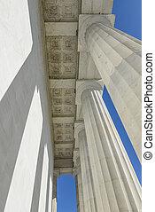 Stone Pillars at the Lincoln Memorial