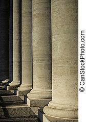 Stone Pillars at the Vatican