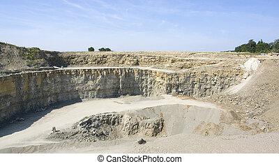 Stone pit scenery