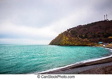 Stone rock on the Black sea