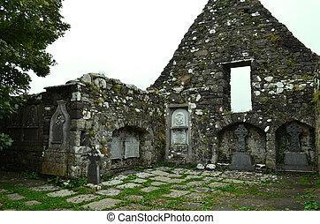 Stone Ruins in Dunvegan on the Isle of Skye Scotland