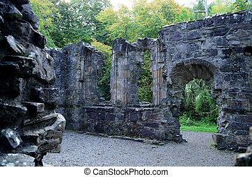 Stone Ruins of Dunstaffnage Chapel in Scotland