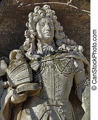 Ernest Augustus - stone sculpture detail at the Marienburg ...