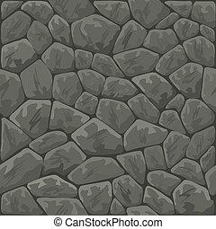 stone seamless pattern - Vector illustration of grey stone...