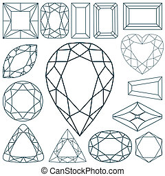 stone shapes against white background, abstract vector art ...