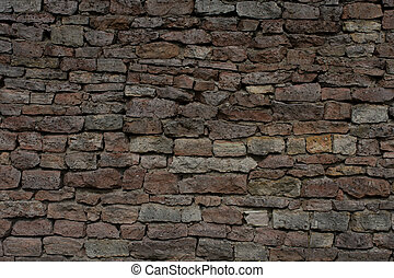 stone shielding wall background