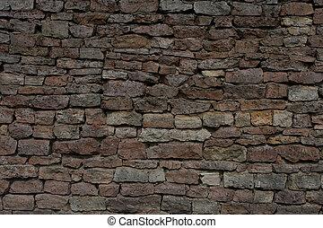 stone shielding wall background