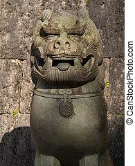 Stone Shisa in Okinawa, Japan