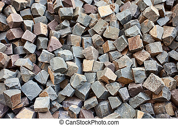 Stone square bricks