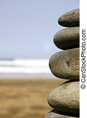 Stone Stack - Stack of pebbles on the beach