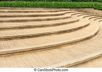 stone staircase walkway in the park