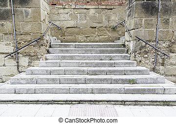Stone stairs in the city