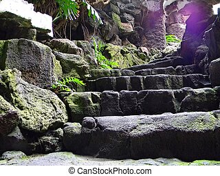 Stone Stairway - Stairway with very old stones