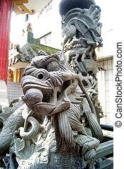 Stone statue: dragon